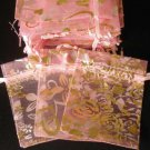 50pcs Baby Pink 2.7x3.5inch(7x9cm) Organza Bags Pouch for Gift Jewelry Random Design
