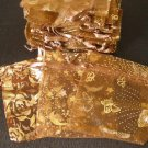 50pcs Brown Coffee 2.7x3.5inch(7x9cm) Organza Bags Pouch for Gift Jewelry Random Design