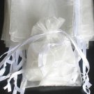50pcs Ivory 3.5x4.6inch(9x12cm) Organza Bags Pouch for Gift Jewelry Solid Color