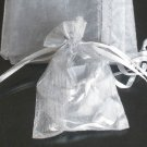50pcs Silver Gray 3.5x4.6inch(9x12cm) Organza Bags Pouch for Gift Jewelry Solid Color