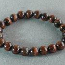 Wholesale 12pcs Natural Red Tiger Eye Gemstone Buddhist Mala Bracelet TG21