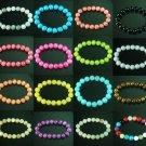 Wholesale 100pcs Tibetan Colorful Mixed Gemstone Stone Fashion Bracelet Chains WZ2