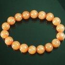 Wholesale 12pcs Tibetan Orange Gemstone Bead Buddhist Mala Bracelet WZ218
