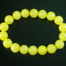 Wholesale 12pcs Tibetan Yellow Jade Gemstone Bead Buddhist Mala Bracelet WZ215