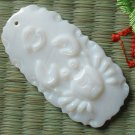 Natural Sea Shell Mother of Pearl Carved Constellation Cancer Statue Amulet Pendant