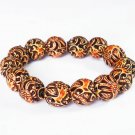 Tibetan Yak Bone Powder Polymer Dragon Beads Bracelet IJ22