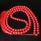 Turquoise Stone 108 0.4inch Red Beads Buddhism Buddha Prayer Mala  Necklace