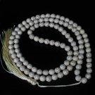 Turquoise Stone 108 0.4inch White Beads Buddhism Buddha Prayer Mala  Necklace
