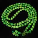 Fashion Jewelry Cool Turquoise 108 Green Vein 10x12mm Skull Beads Necklace