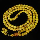Fashion Jewelry Cool Turquoise 108 Yellow Vein 10x12mm Skull Beads Necklace