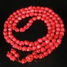 Fashion Jewelry Cool Turquoise 108 Red Vein 10x12mm Skull Beads Necklace