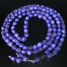 Fashion Jewelry Cool Turquoise 108 Purple Black Vein 10x12mm Skull Beads Necklace