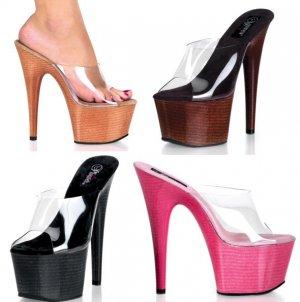 Adore - Women's Clear Strap Open Toe ( 00442F-ADO701W )