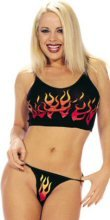 Flame Print Cami & Thong Set  0277LS-9104