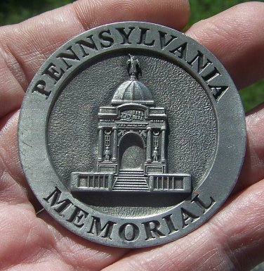 Pennsylvania Memorial, Gettysburg, Pa., 2002 Friends of the National Parks in Gettysburg Medal