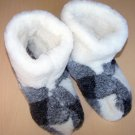 GENUINE SHEEP WOOL SLIPPERS BOOTS 100% PURE WOOL WOMEN SIZE 9 US/ 7 UK/ 40 EU NEW