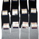 12 PAIRS MENS SOCKS ASSORTED COLORS COTTON DRESS SOCKS SIZE 9-11 US/ 42-44 EU