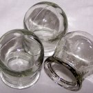 SET OF 3 GLASS MASSAGE CUPS. CHINESE MASSAGE THERAPY. NEW