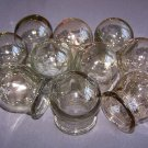 CHINESE MASSAGE THERAPY. SET OF 10 GLASS MASSAGE CUPS. CUPPING JARS.