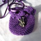 Crocheted Totem Pouch - Wizard - Purple