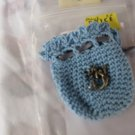 Crocheted Totem Pouch - Mermaid - Lt Blue