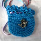 Crocheted Totem Pouch - Mermaid - Turquoise