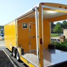 8.5X24Penske Yellow BBQ Concession Trailer