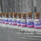 Fairy Dust Jars set of 10 Pink and Purple stars, Tiny Princess Fairy Tale Party Favor