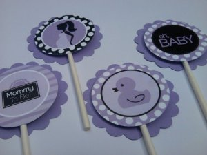 Mod Mom Baby Shower Collection Favor Tags