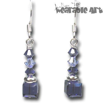 Purple Velvet - Swarovski Crystal Earrings