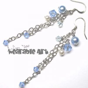 Kayser - Swarovski Crystal / Pearl Earrings