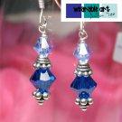 By the beach - Swarovski Crystal Earrings / .925 Sterling Silver / Bali Silver