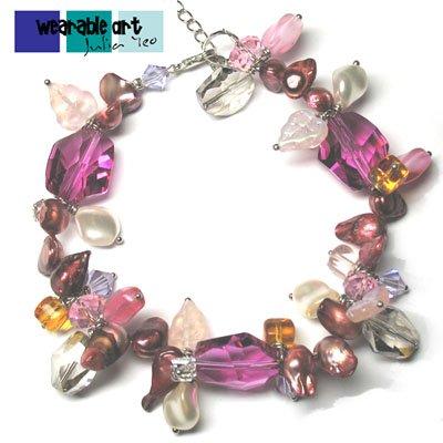 Fuchsia Bloom ~ Swarovski Crystal Bracelet