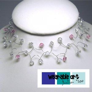 ~Wedding Wired Necklace & Bracelet Set~ Swarovski Crystals