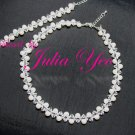 Innocence - White snowy handcrafted Swarovski necklace