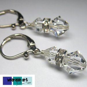 Wedding bells - Swarovski Crystal Earrings