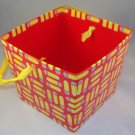 """Red """"Pencil"""" Patterned Open-Top Box"""