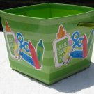 """Green """"Supply"""" Patterned Open-Top Box"""
