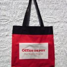 "Tote Bag - Red and Black with White ""Office Depot"""