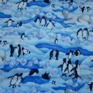 Cloth Material - Polar Scene (Polar Bears and Penguins)