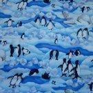 Cloth Material - Polar Scene (Polar Bears and Penguins)
