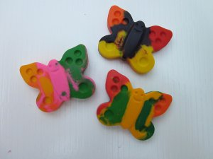 Custom-Made Crayons!  Set of 3 Butterflies