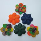 Custom-Made Crayons!  Set of 3 Daisies