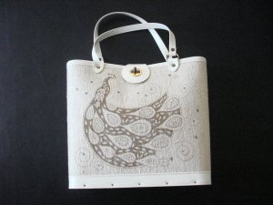 Wood Bottom Purse
