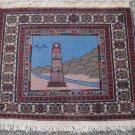 2'4 x 2'2 Minaret of Jam Afghani Handmade Oriental High KPSI New Area Wool Rug