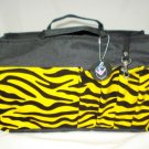 Limited Edition Printed Bag Organizer / Bag Insert Large (Yellow Zebra Print)