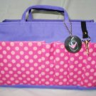 Printed Bag Organizer Medium (Violet Pink / Polka Dots)