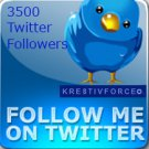 3500 twitter followers
