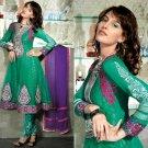 Net & Chiffon Partywear Embroidered Shalwar & Salwar Kameez - X 3452 N