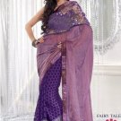 Faux Georgette Wedding Embroidered Bollywood Sarees Sari With Blouse - VF 467 N